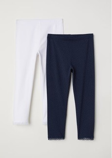 H&M H & M - 2-pack 3/4-length Leggings - Blue