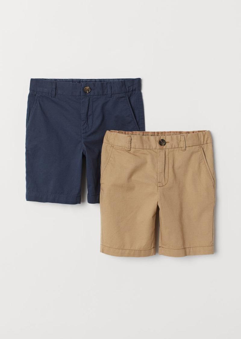H&M H & M - 2-pack Chino Shorts - Beige