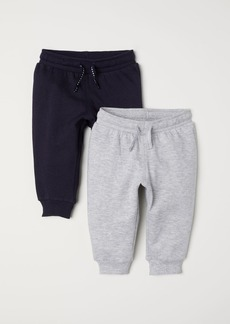 H&M H & M - 2-pack Cotton Joggers - Blue