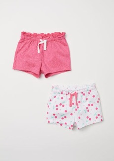H&M H & M - 2-pack Cotton Shorts - Pink