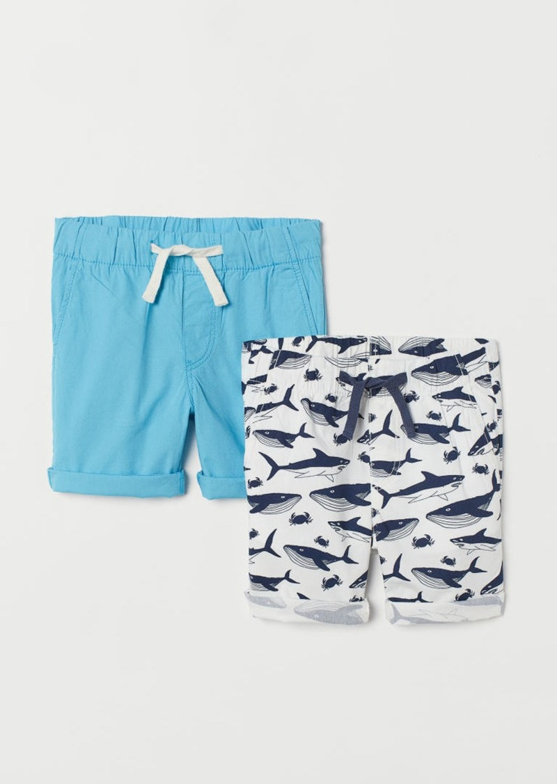 H&M H & M - 2-pack Cotton Shorts - White