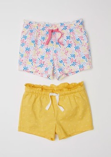 H&M H & M - 2-pack Cotton Shorts - Yellow