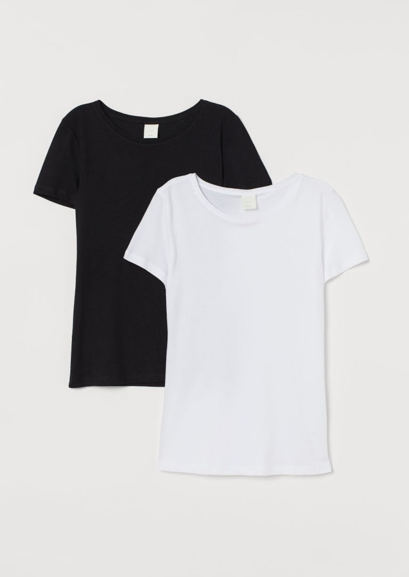 H&M H & M - 2-pack Cotton T-shirts - Black