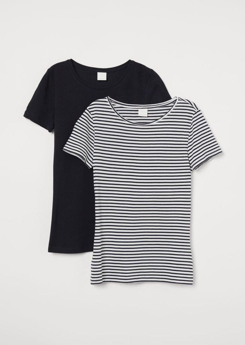 H&M H & M - 2-pack Cotton T-shirts - Blue