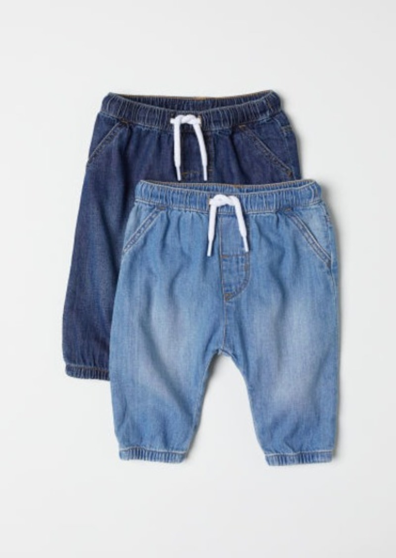 H&M H & M - 2-pack Denim Joggers - Blue