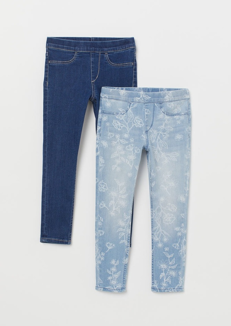H&M H & M - 2-pack Denim Leggings - Blue