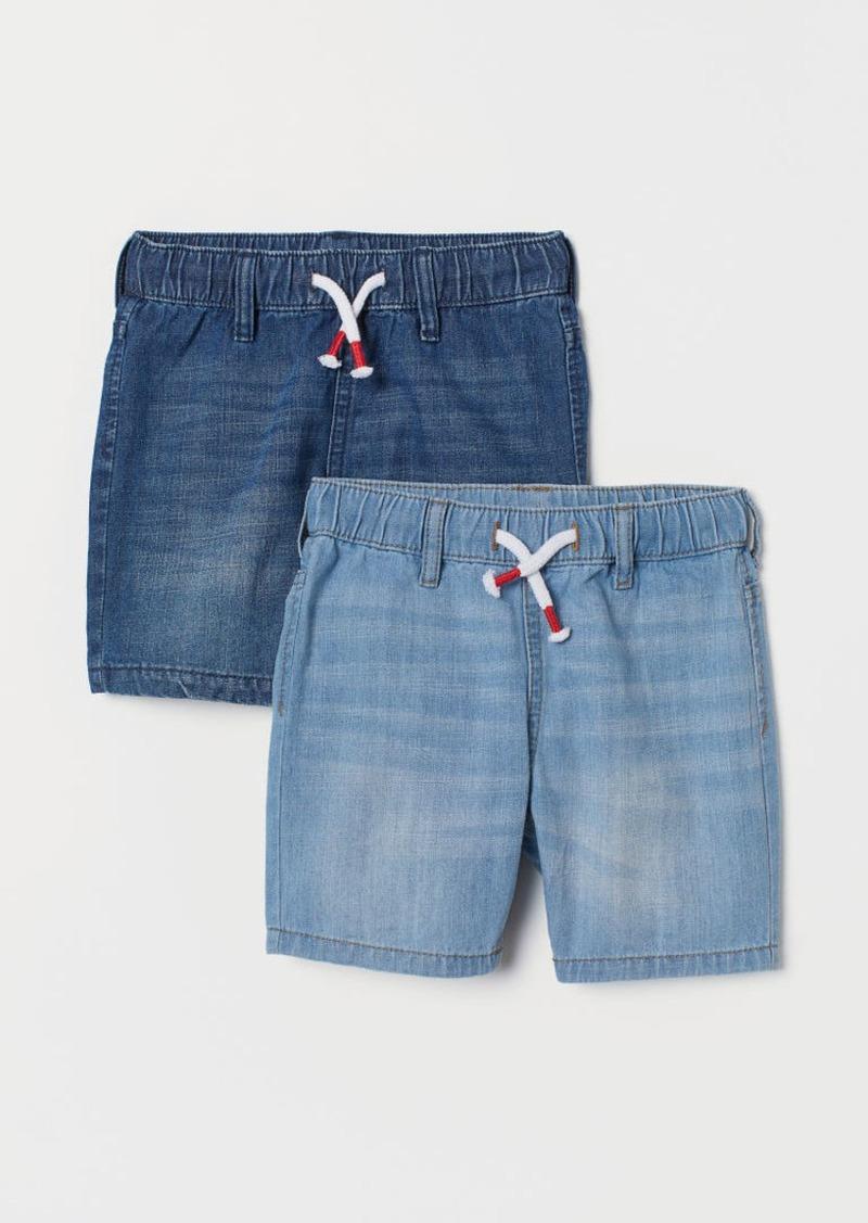H&M H & M - 2-pack Denim Shorts - Blue