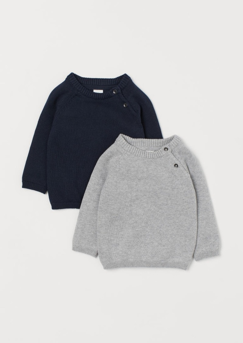 H&M H & M - 2-pack Fine-knit Sweaters - Blue