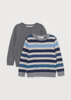 H&M H & M - 2-pack Fine-knit Sweaters - Gray