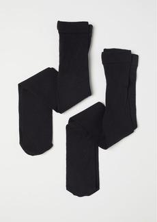 H&M H & M - 2-pack Fine-knit Tights - Black