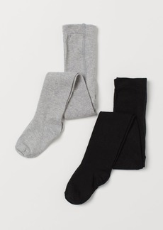 H&M H & M - 2-pack Fine-knit Tights - Black