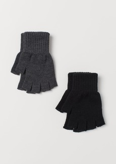 H&M H & M - 2-pack Fingerless Gloves - Black