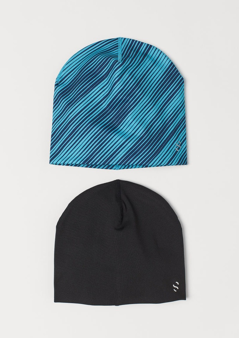H&M H & M - 2-pack Hats - Turquoise