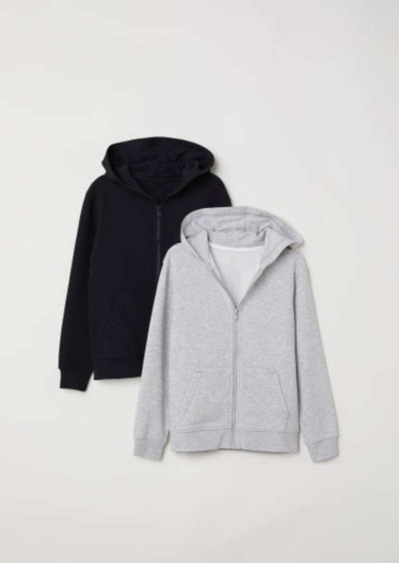 H&M H & M - 2-pack Hooded Sweatshirts - Gray