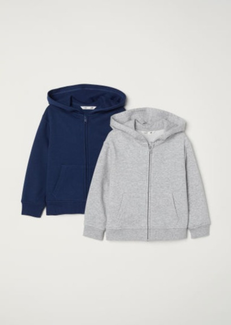 H&M H & M - 2-pack Hooded Jackets - Gray