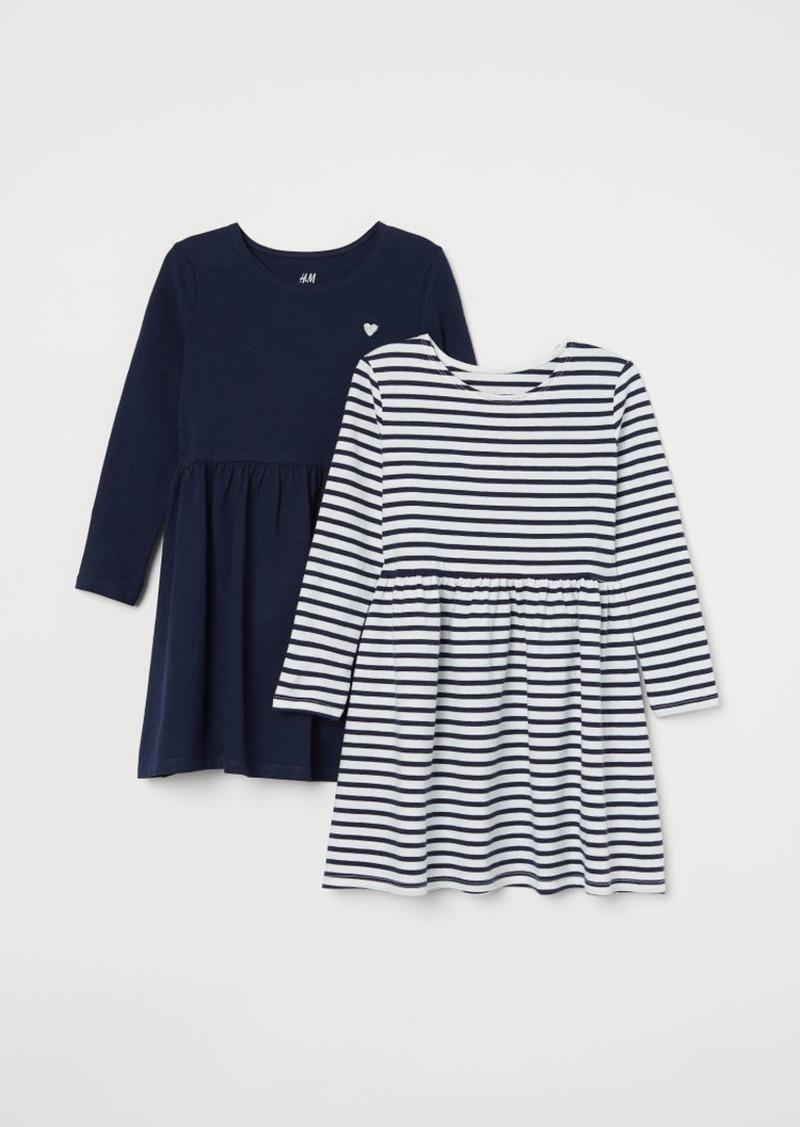 H&M H & M - 2-pack Jersey Dresses - Blue