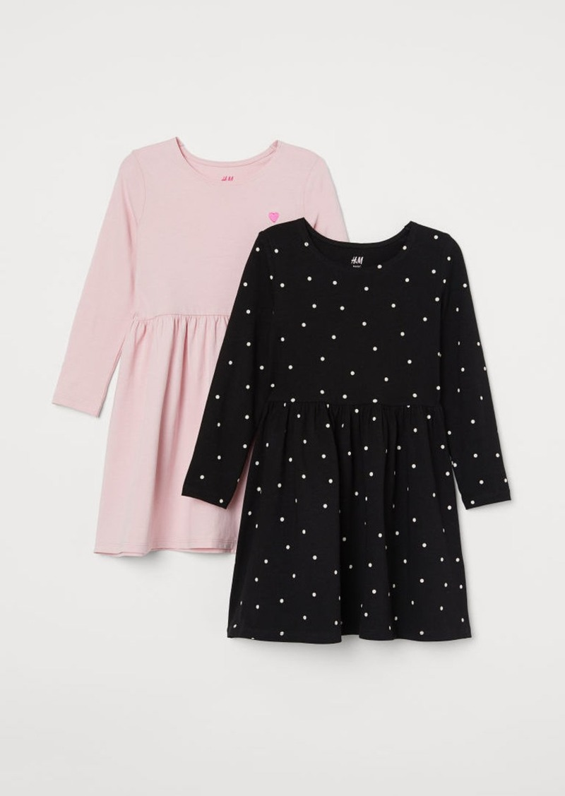 H&M H & M - 2-pack Jersey Dresses - Pink
