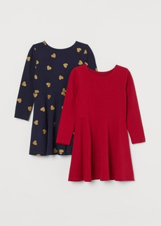 H&M H & M - 2-pack Jersey Dresses - Red