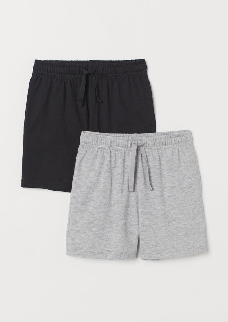 H&M H & M - 2-pack Jersey Shorts - Black