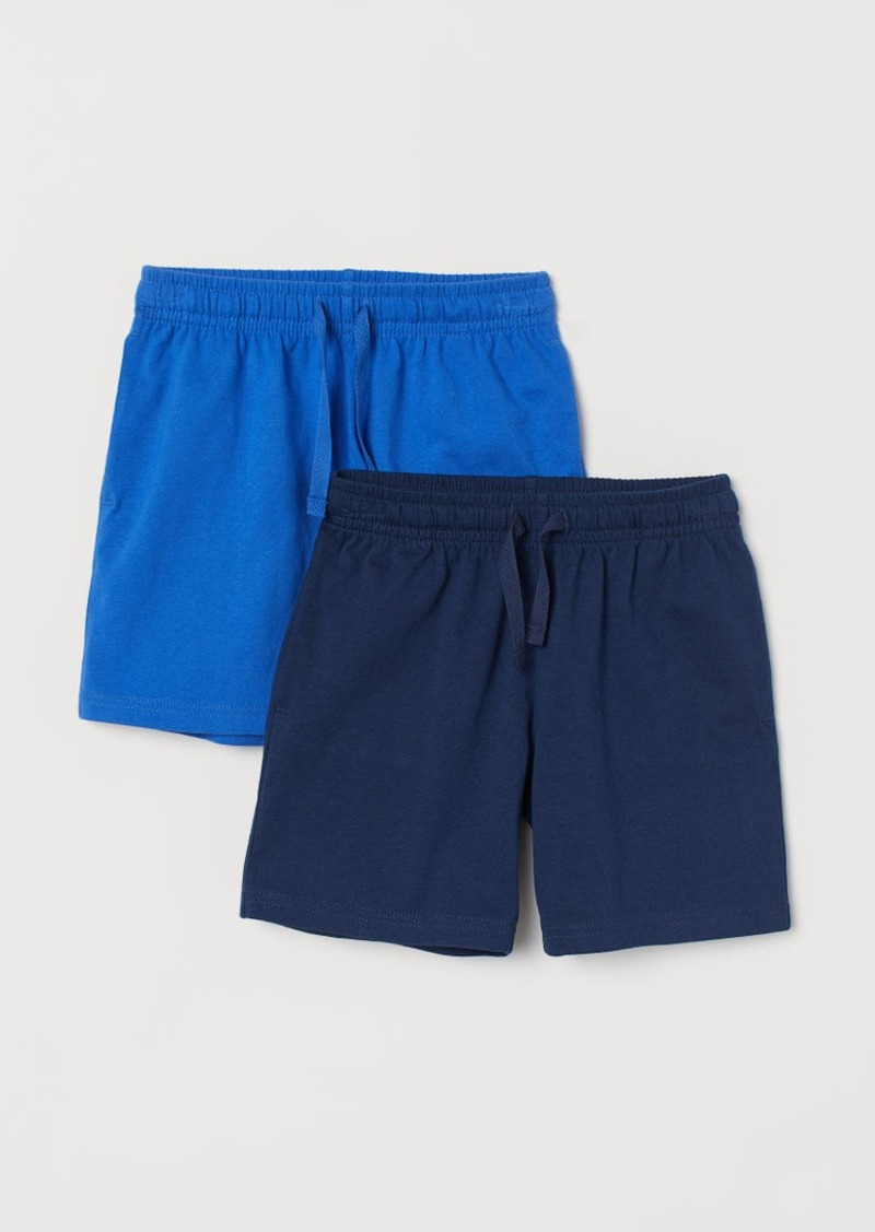 H&M H & M - 2-pack Jersey Shorts - Blue