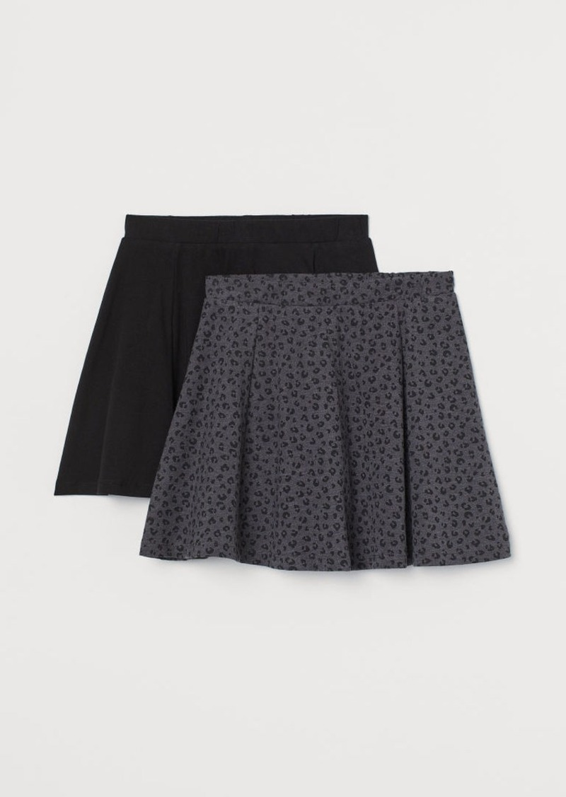 H&M H & M - 2-pack Jersey Skirts - Gray