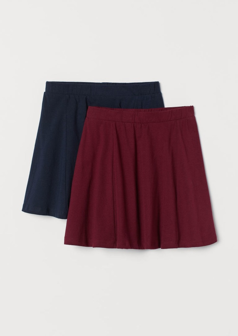 H&M H & M - 2-pack Jersey Skirts - Red