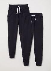 H&M H & M - 2-pack Joggers - Black