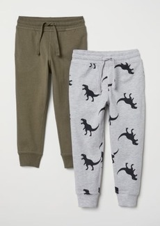 H&M H & M - 2-pack Joggers - Green
