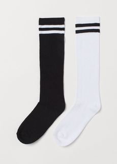 H&M H & M - 2-pack Knee Socks - Black