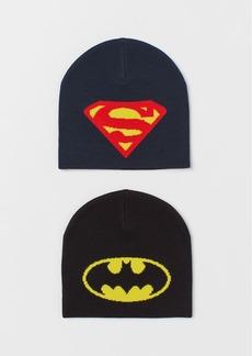 H&M H & M - 2-pack Knit Hats - Black