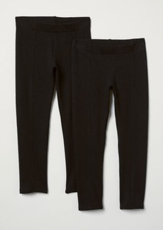 H&M H & M - 2-pack Thick Jersey Leggings - Black