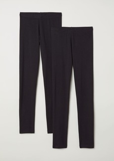 H&M H & M - 2-pack Leggings - Black