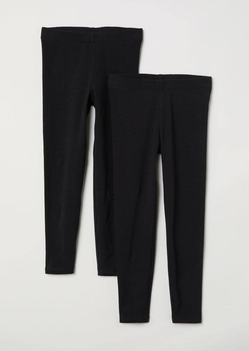 H&M H & M - 2-pack Leggings - Black