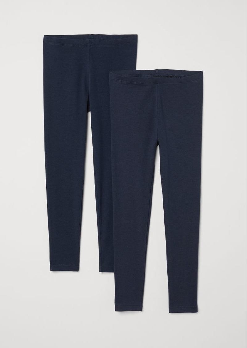 H&M H & M - 2-pack Leggings - Blue