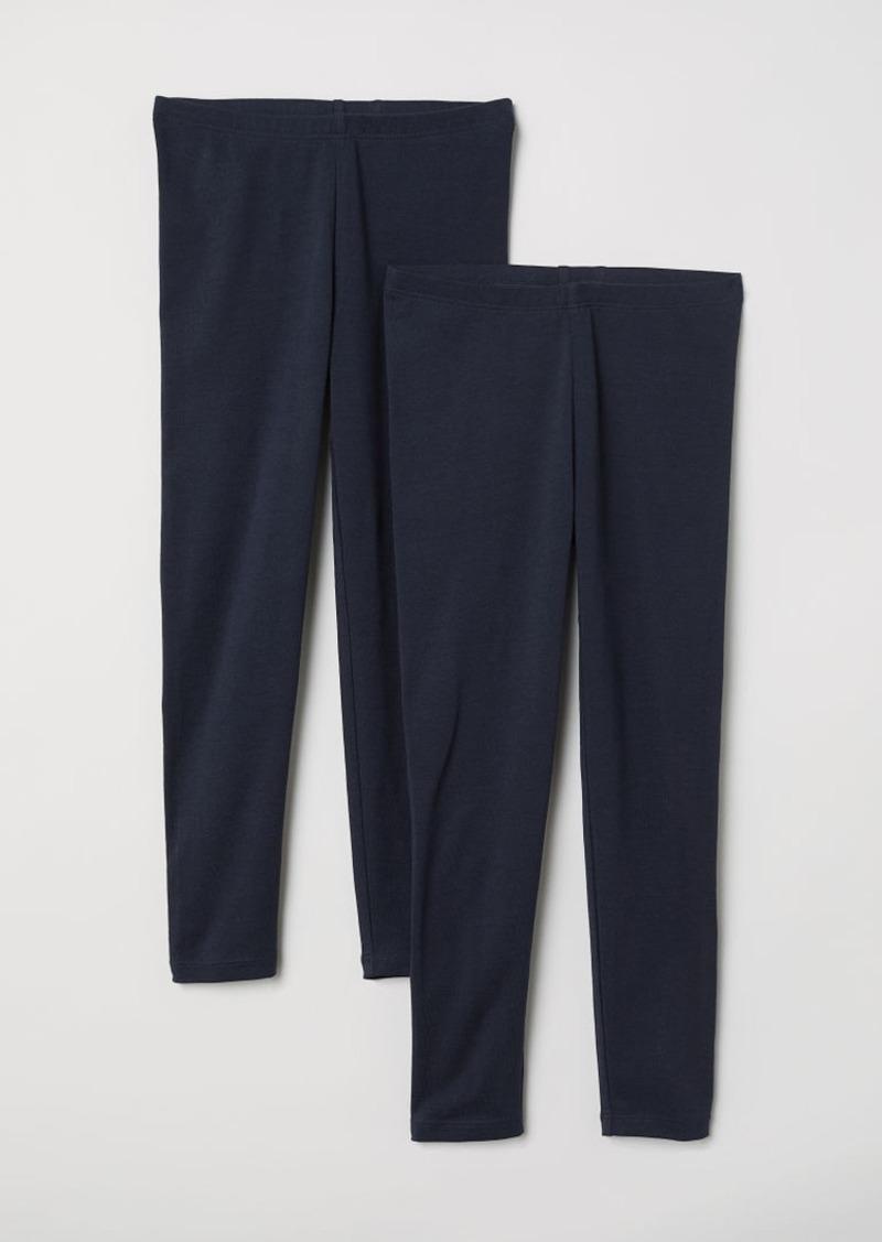 H&M H & M - 2-pack Leggings - Blue