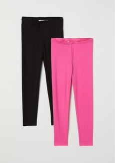 H&M H & M - 2-pack Leggings - Pink