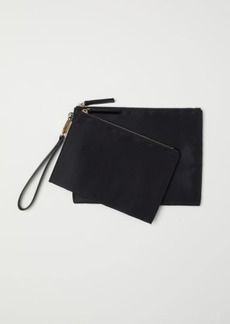 H&M H & M - 2-pack Makeup Bags - Black