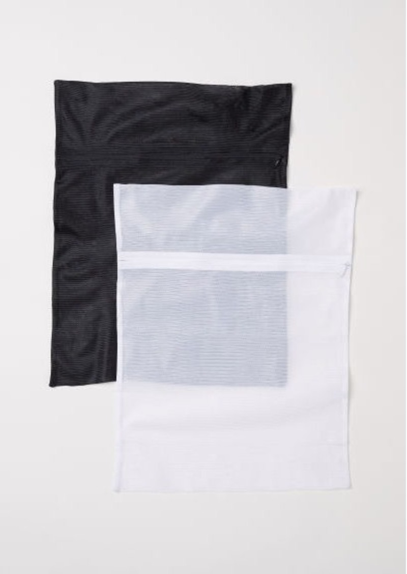 H&M H & M - 2-pack Mesh Laundry Bags - White