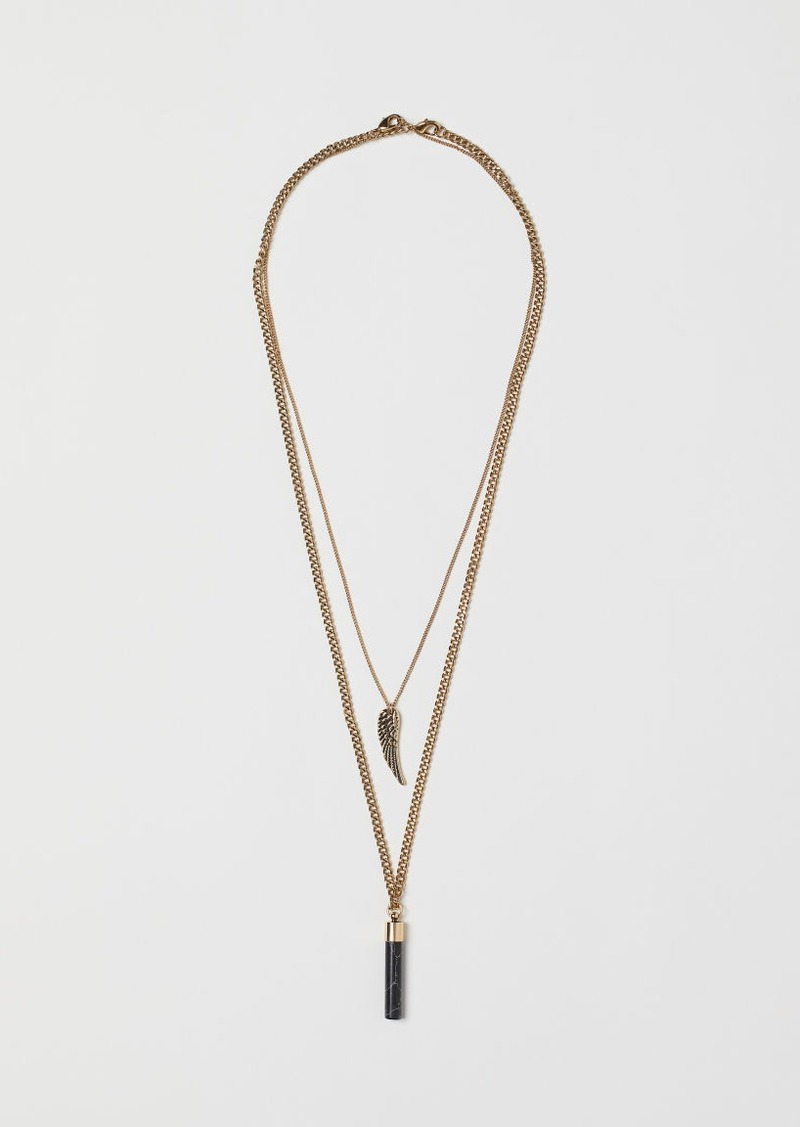 H&M H & M - 2-pack Necklaces - Gold