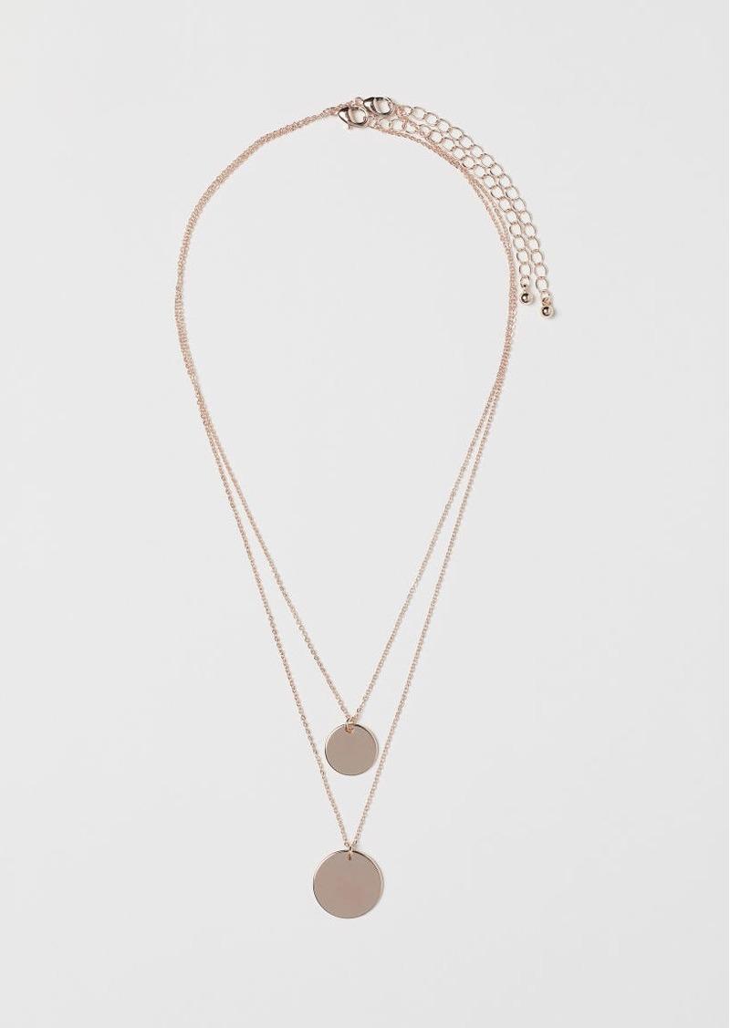 H&M H & M - 2-pack Necklaces - Orange