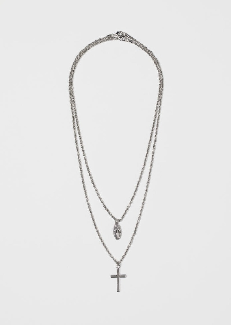 H&M H & M - 2-pack Necklaces - Silver