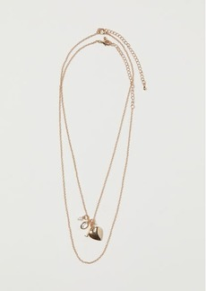H&M H & M - 2-pack Necklaces with Pendants - Gold