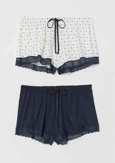 H&M H & M - 2-pack Pajama Shorts - Blue