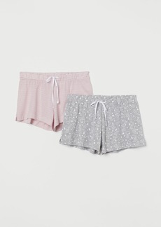 H&M H & M - 2-pack Pajama Shorts - Gray