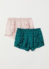 H&M H & M - 2-pack Pajama Shorts - Turquoise