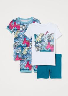 H&M H & M - 2-pack Printed Pajamas - White