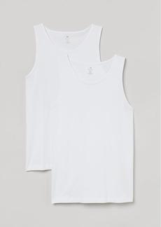 H&M H & M - 2-pack Regular Fit Tank Tops - White