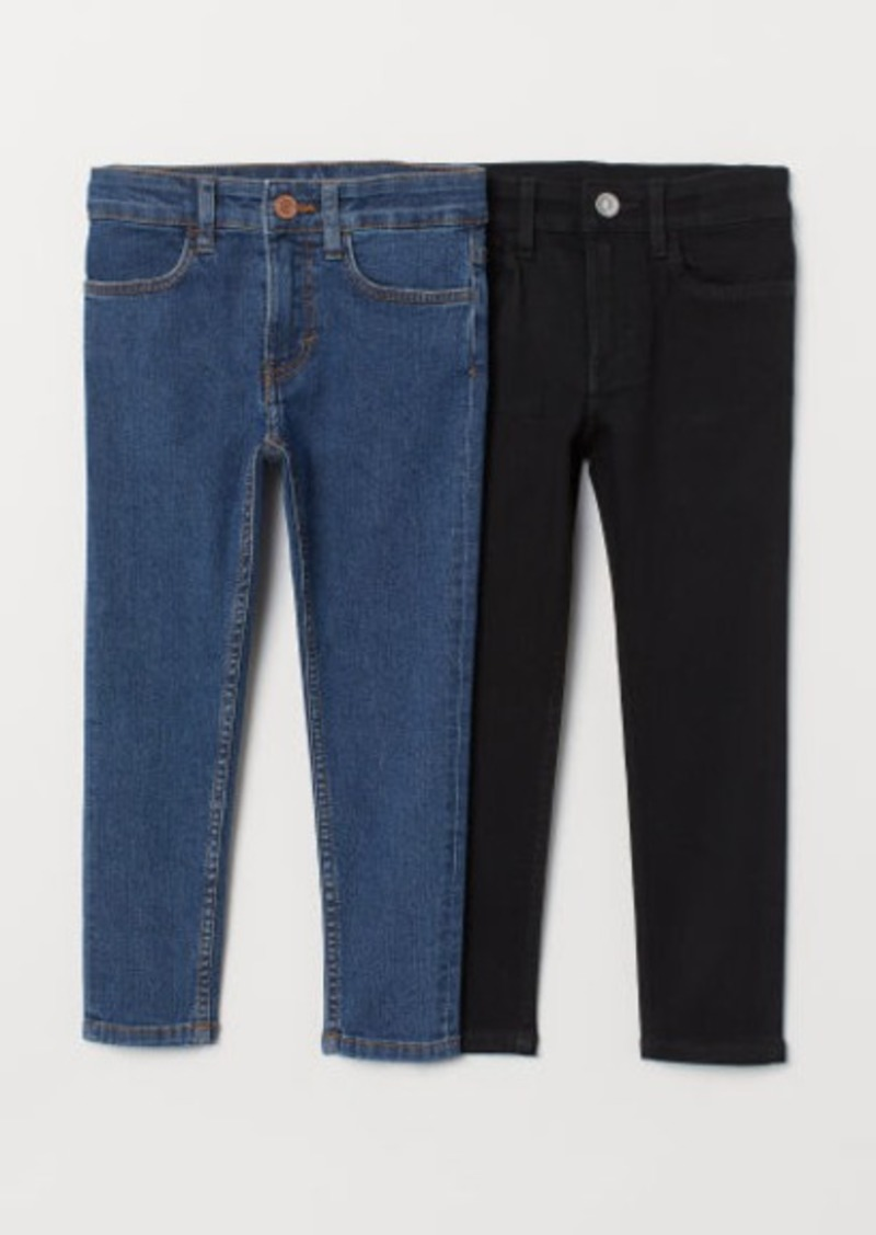 H&M H & M - 2-pack Skinny Fit Jeans - Blue
