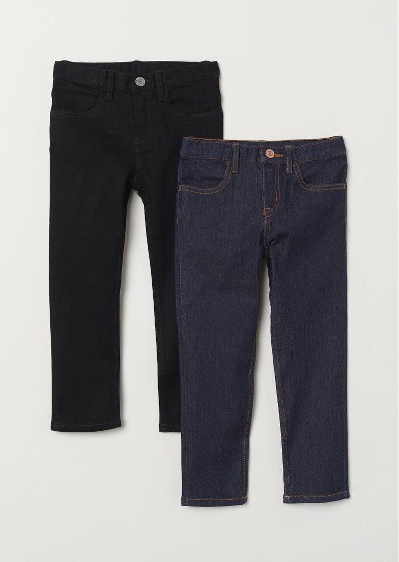 H&M H & M - 2-pack Slim Fit Jeans - Black