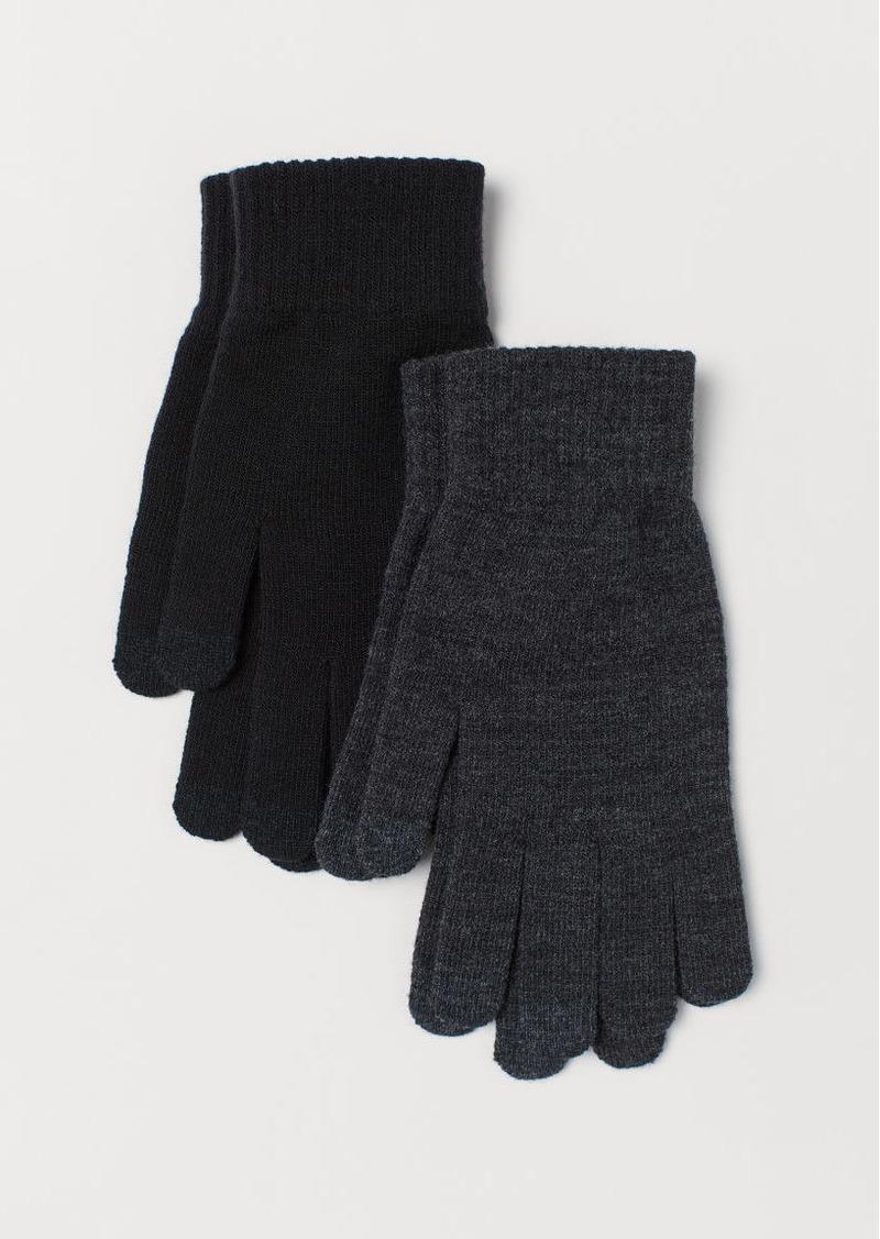 H&M H & M - 2-pack Smartphone Gloves - Black